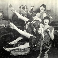 The Dolly Sisters, with their dollies