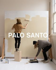 PALO SANTO paint color, a warm beige with a hint of yellow Best Neutral Paint Colors, Canvas Drop Cloths, Backdrops, Backdrop Ideas, Nook And Cranny, Paint Samples, Health Department, Home Free, Color Card