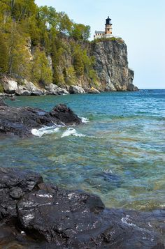 Two Harbors, MN (photo is of nearby Split Rock). My favorite place in the world. I've traveled to: Arizona, Florida, Hawaii, Illinois, North Dakota, and Wisconsin, but nothing quite beats the  beauty of this place.