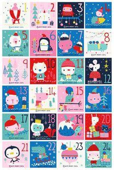 pop-i-cok deciembre de 2014 . una ilustración por cada día hasta la Navidad. Idea para el Adviento !!!!