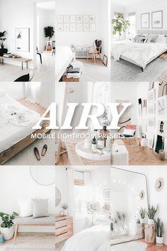 5 Lightroom Presets AIRY for Mobile Lightroom / Bright Airy Light Lightroom Preset Color Filter, Vsco Filter, Lightroom Presets, Instagram Feed, Filters, Minimalism, Adobe, Desktop, Horse