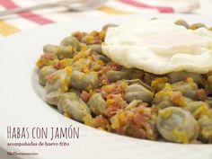 Habas con jamón - MisThermorecetas Spanish Cuisine, Fava Beans, Allrecipes, A Food, Mashed Potatoes, Yummy Food, Delicious Recipes, Veggies, Thanksgiving