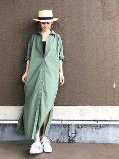 ラクチン可愛いが夏仕様♡ラフなワンピーススタイル見本帳 in 2020 Fashion Wear, Modest Fashion, Skirt Fashion, Fashion Dresses, Japanese Minimalist Fashion, Minimal Fashion, Uniqlo Style, Simple Summer Outfits, Minimal Dress