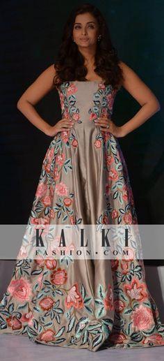 Aishwarya Rai Elegant Dresses, Formal Dresses, Desi Wear, Indian Fashion, Womens Fashion, Aishwarya Rai, Bollywood Actors, Beautiful Gowns, Western Wear