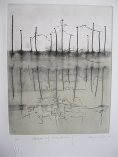 'States of Understanding', original print by Susan Hurrell Fieldes
