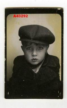 1930s Vintage Photobooth Very Cute Little BOY Amazing Eyes   eBay