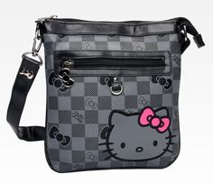 Hello Kitty Shoulder Bag: Grid in Hello Kitty Grid at Sanrio