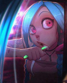League of Legends - Jinx Lol League Of Legends, Otaku Anime, Anime W, Anime Zone, Get Jinx, Character Art, Character Design, Art Et Illustration, Game Art