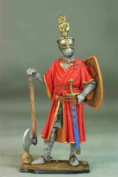 Tin toy soldiers painted 54mm М195 German knight, 1200 in Toys & Hobbies, Toy Soldiers, 1970-Now | eBay