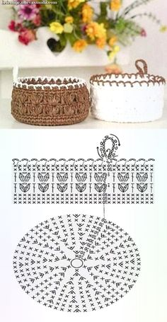 Cesta tejido en crochetcon moldes Crochet basket with molds (Visited 4 times, 1 visits today) Crochet Bowl, Crochet Basket Pattern, Crochet Diagram, Cute Crochet, Crochet Patterns, Hexagon Crochet Pattern, Crochet Baskets, Crochet Decoration, Crochet Home Decor