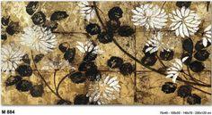 Flower art black&gold -- mobilirecchia.it