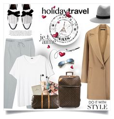 """Holiday Travel"" by monica-dick ❤ liked on Polyvore featuring rag & bone, Theory, Zara, FOSSIL, Skullcandy, Louis Vuitton, L'Oréal Paris and travelinstyle"