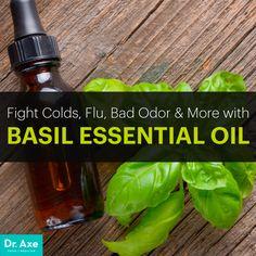 Basil essential oil - Dr. Axe http://www.draxe.com #health #holistic #natural
