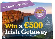 win €500 to spend on placestostay.com Beautiful Landscapes, Irish, Competition, Irish Language, Ireland