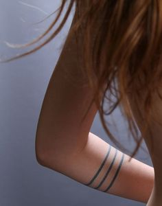 Three thin bands tattoo