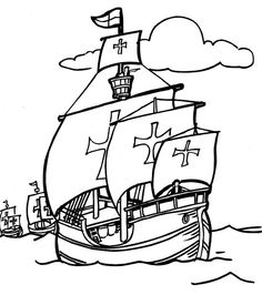 Recursos Educativos - Fichas infantiles y #dibujos #Hispanidad, día de la raza.