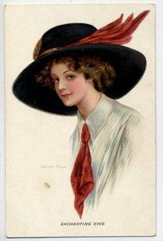 N2707 Archie Gunn Postcard Enchanting Eyes Beautiful Woman | eBay