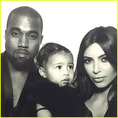 Kim Kardashian's Daughter North West Takes First Photo Booth Pics ...
