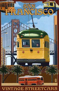 vintage+streetcars+san+francisco+postcard.jpg (490×750)