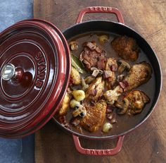 Braised Chicken in a Dutch Oven  Slow cooker vs dutch oven conversion guide - cooking time, liquid and braising