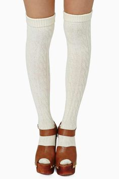 New Schooled Thigh High Socks