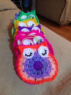 All 36 eyes sewn on :) #crochet #owlblanket #orderstaken #babyblanket #blanket