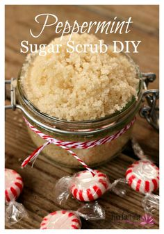 Are you looking for a quick and easy homemade gift? Or maybe something to treat yourself? This peppermint sugar scrub is a decadent indulgence. The DIY uses ingredients you already have in your pantry, and only takes a minute to make. Here's how...