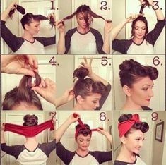 Pin Up Hair!