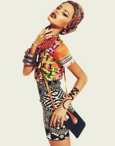 african print inspiration, mixed print