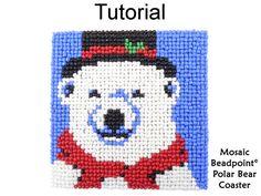Beading Tutorials and Patterns Beaded Polar Bear Coaster