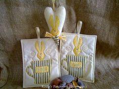 Serduszko z królikiem i łapki ozdobne :)