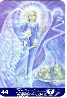 7 Seven of cups - Aura Soma Tarot. Color therapy colour healing