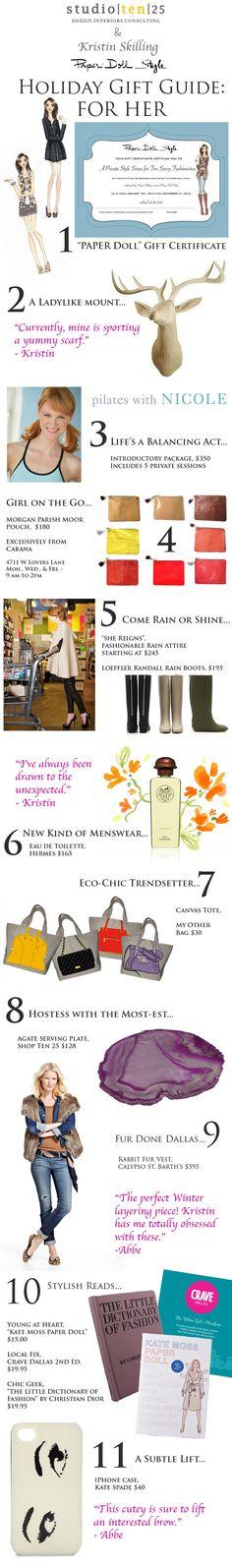 Holiday Gift Guide - HER - Studio Ten 25