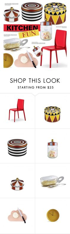 """""""Kitchen Fun"""" by lovethesign-eu ❤ liked on Polyvore featuring interior, interiors, interior design, home, home decor, interior decorating, Atipico, kitchen, yellow and red"""