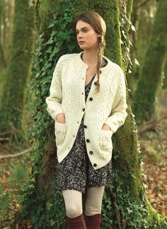 Handknit Aran Lumber Sweater...I had an Aran sweater...it was heavy and warm...just right for those cool Irish days