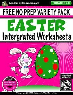 Uploaded April  10, 2014 7:45 pmFREE Easter Worksheets include:* Lowercase alphabets a-z* Uppercase alphabets A-Z* Numbers 1-10* Numbers 1-20* Numbers 1-30* Tic-Tac-Toe Game* Dots Game* Easter (Blank Card) students can color, write a personal message, then give to a classmateWe hope you enjoy using this product!
