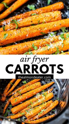 Air Fryer Carrots are a healthy way to enjoy carrots. You only need 3 ingredients and 20 minutes for these perfectly tender carrot sticks - - it'll quickly become your favorite carrot recipe!