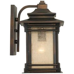 """Franklin Iron Works Hickory Point 12"""" High Outdoor Light - #09559 