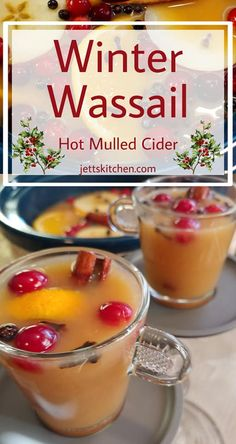Hot Spiced Cider - Jett's Kitchen - Winter Wassail is the perfect beverage to serve for the holidays. This beverage is also known as ho - Christmas Drinks, Holiday Drinks, Fall Recipes, Holiday Recipes, Green Lentil Salad, Hot Spiced Cider, Wassail Recipe, Winter Drinks, Thanksgiving