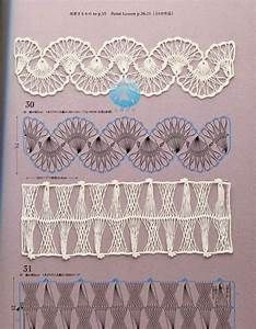 Make hairpin/broomstick lace then do this with it! Picot Crochet, Broomstick Lace Crochet, Hairpin Lace Crochet, Irish Crochet, Crochet Motif, Crochet Shawl, Crochet Hooks, Crochet Stitches Patterns, Crochet Designs