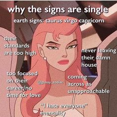 aesthetic zodiac sign memes astrology earth signs taurus virgo capricorn why the signs are single Zodiac Sign Traits, Zodiac Signs Capricorn, Zodiac Star Signs, My Zodiac Sign, Virgo Facts, Capricorn Quotes, Virgo Sign, Zodiac Art, Capricorn And Virgo