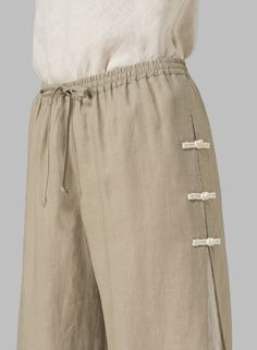 Linen Double-Layer Pants - Plus Size - Pantaloni da donna Diva Fashion, Boho Fashion, Clothing Patterns, Dress Patterns, Collar Kurti Design, Miss Me Outfits, Bollywood Dress, Plus Clothing, Casual Work Outfits