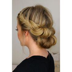 Headband Hair Tuck With A Bun ❤ liked on Polyvore featuring accessories, hair accessories, hair and lullabies