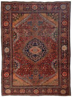 Persian Sarouk Farahan rug, 1890