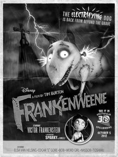 Frankenweenie 3D movie poster limited edition Comic-Con version