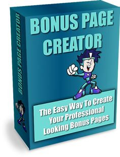Bonus Page Creator Is A FREE, Fill-In-The-Blanks Software Tool That Allows You To Create Professional Bonus Pages Without Any Coding Experience. Comes with Master resale Rights (Rebranding Options Available) Marketing Tools, Internet Marketing, Online Marketing, Marketing Products, Marketing Software, Digital Marketing, Make Money Online, How To Make Money, Solo Ads