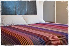 Plaid multicolors couvre lit couverture fait par Sheherazadesign