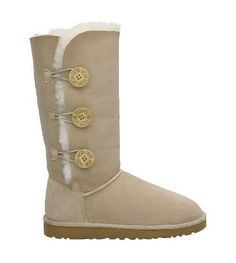 UGG Bailey Button Triplet 1873 Boots- Sand