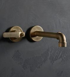 Elan Vital is an Industrial style baisin tap made for warehouse living. Select finishes inlcude Oil Rubbed Bronze, Polished Copper and Aged Brass. Bronze Bathroom, Bathroom Taps, Industrial Bathroom, Bathroom Fixtures, Master Bathroom, Rustic Bathrooms, Copper Taps, Brass Tap, Boffi