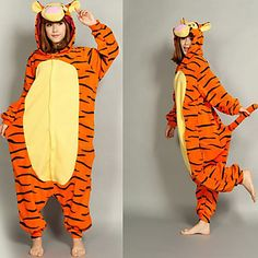 Smart Tigger Polar Fleece Adult Kigurumi Pajama – USD $ 33.99